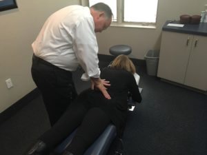 adjustment being performed on older athlete in Rockville